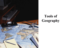 A Geographer`s Tools