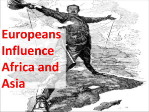Europeans Influence Africa and Asia