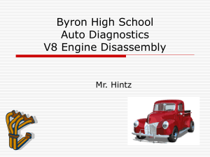 Byron High School Auto Diagnostics V8 Engine