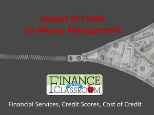 Impact of Credit PPT - Finance in the Classroom