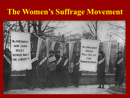Women`s Suffrage Organizations
