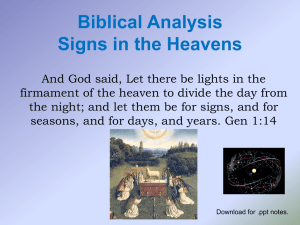 Biblical Astronomy Nov 17 2010