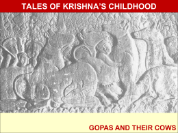 TALES OF KRISHNA`S CHILDHOOD