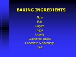 baking ingredients - Lord Selkirk School Division