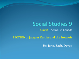 Jacques Cartier and the Iroquois By