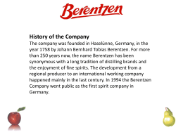 Berentzen Pear - Total Beverage Solution