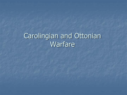 Carolingian warfare PowerPoint
