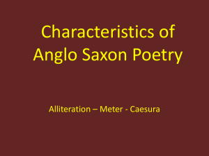 Characteristics of Anglo Saxon Poetry -