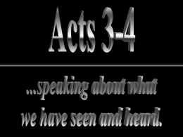 Theme of Acts