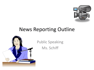 News Reporting Outline