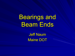 Bearings and Beam Ends