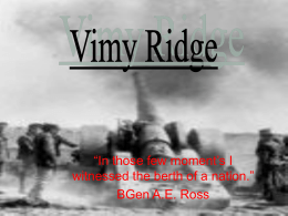 Where Is Vimy Ridge…