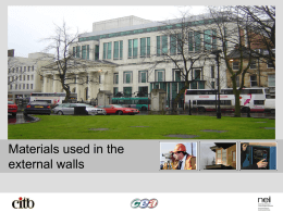Materials Used in the External Walls