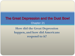 Causes of the Great Depression and the Dust Bowl