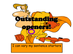 Outstanding openers! - Holy Rosary Website