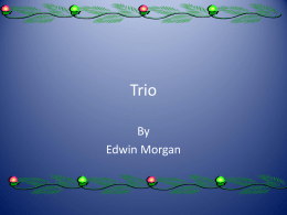 Trio by Edwin Morgan