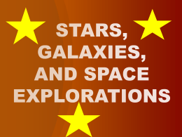 stars, galaxies,and space explorations ppt