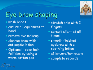 Eyebrow shaping trt File