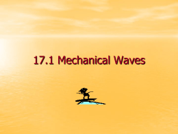 17.1 Mechanical Waves
