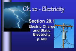 I. Electric Charge - Collinsville Public Schools