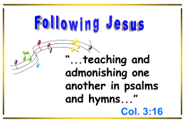 Following Jesus - Radford Church of Christ
