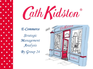 Strategic Analysis - Cath Kidston