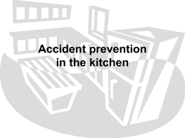 Accident prevention in the kitchen