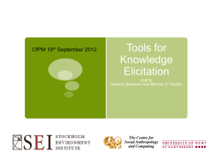 Tools for Knowledge Elicitation