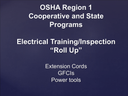 "Electrical Training/Inspection ""Roll Up"""