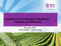 Postharvest Cold Storage of Blueberry: Problems and Solutions