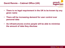 David Rennie – Cabinet Office