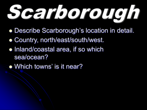 Scarborough 1 Location, land use and rock type / Scarborough 1