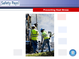 Why Take the Preventing Heat Stress Training?