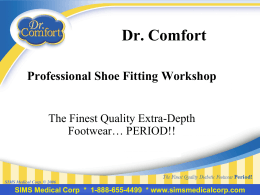 Dr. Comfort professional shoe fitting