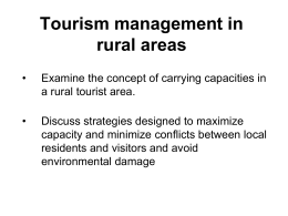 tourism management in rural areas