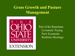 Grass Growth and Pasture Management