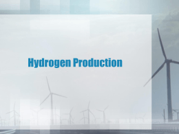 Hydrogen Production - The University of Toledo