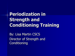 Periodization in Strength & Conditioning
