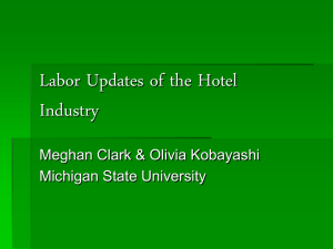 Labor Issues of the Hotel Industry