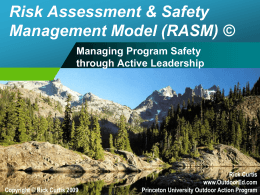 Risk Assessment & Safety Management Model