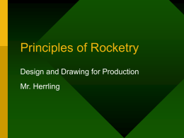 Principles of Rocketry PowerPoint