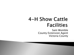 4-H Show Cattle Facilities