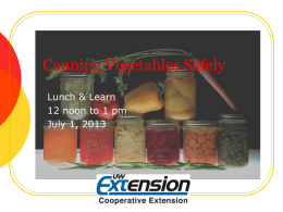 Slides - Food Safety and Health