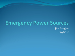 Emergency Power - Owen County Homesteaders