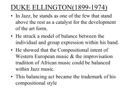 DUKE ELLINGTON(1899-1974)