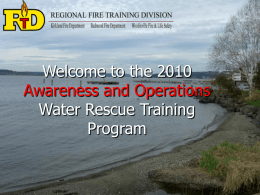 the Zone 1 Water Rescue Awareness Level On Line Training
