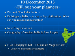 Ancient India Geography and Early Cultures PowerPoint