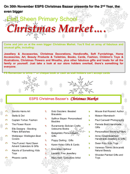 ESPS Christmas Market for PDF