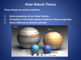 Unit 3 - Section 9.5 Solar Nebula Theory