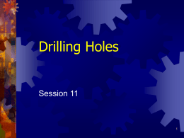 Drilling Holes - Skilled Trades Math On-line